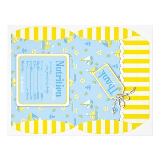 Nautical Puff Box Template Personalized Flyer