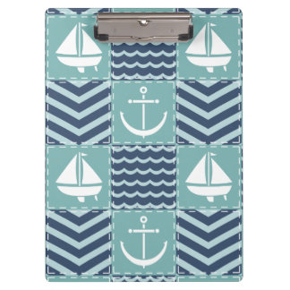 Nautical Quilt Clipboard