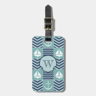 Nautical Quilt Luggage Tag