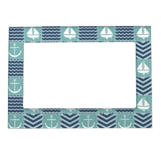 Nautical Quilt Magnetic Frame