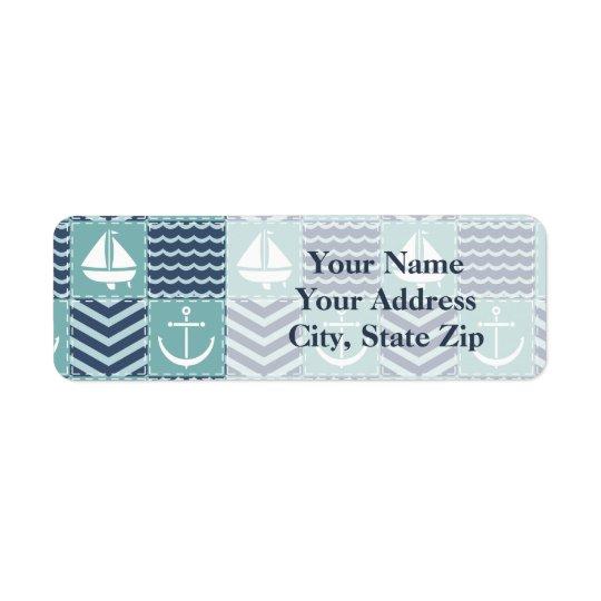 Nautical Quilt Return Address Label