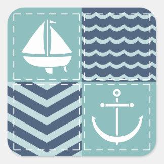 Nautical Quilt Sticker