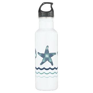 Nautical Quilt Water Bottle