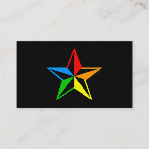 Nautical star business cards business card printing zazzle uk nautical rainbow star business card reheart Gallery