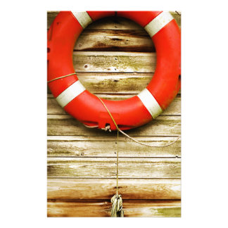 Nautical Red Life Ring Stationery