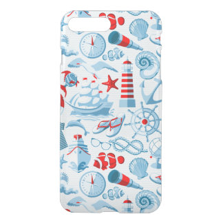Nautical Red White And Blue Pattern iPhone 8 Plus/7 Plus Case