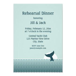Nautical Rehearsal Dinner 13 Cm X 18 Cm Invitation Card