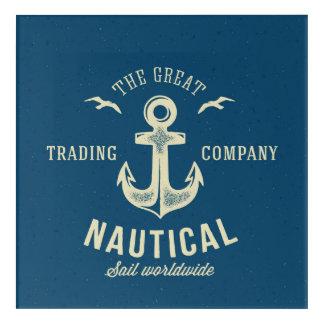 Nautical Retro Logo Acrylic Print