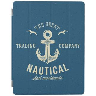 Nautical Retro Logo iPad Cover