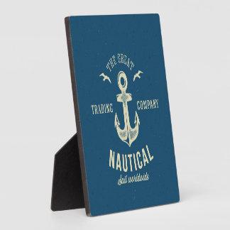 Nautical Retro Logo Plaque