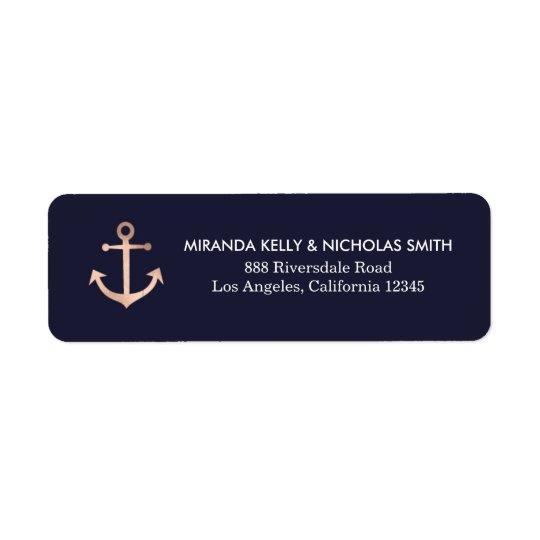 Nautical return address labels, nautical address return address label