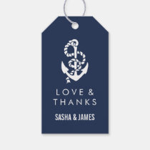 Nautical Rope & Anchor Thank You Favor Tags Pack Of Gift Tags