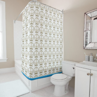 Nautical Rope and Anchor Shower Curtain