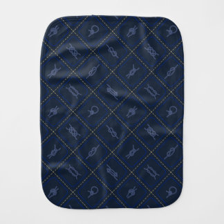 Nautical Rope Knot Pattern Burp Cloth