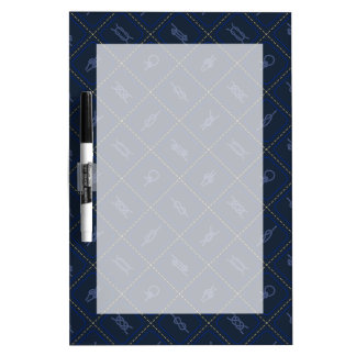 Nautical Rope Knot Pattern Dry Erase Whiteboard