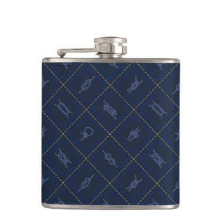 Nautical Rope Knot Pattern Hip Flask