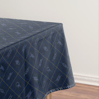 Nautical Rope Knot Pattern Tablecloth