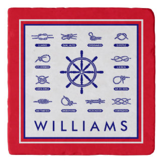 Nautical Rope & Knots   With Your Name Trivet