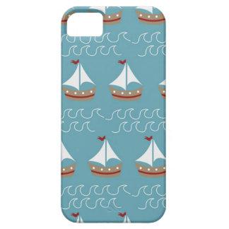 Nautical Sail Boat Print iPhone 5 Case
