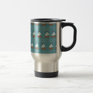 Nautical Sail Boat Print Travel Mug