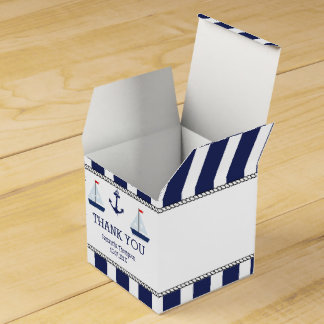 Nautical Sail Boats Baby Shower Favor Box Favour Box