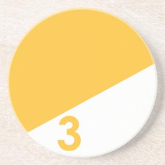 Nautical Sail Coaster - Yellow Number