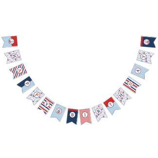 Nautical Sailboat Anchor Crab Birthday Bunting