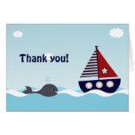 Nautical Sailboat Baby Boy Baby Shower Thank You