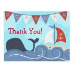 Nautical Sailboat Beach Ocean Whale Thank You
