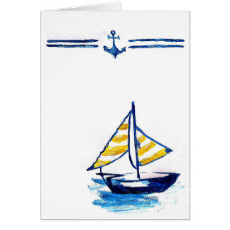 Nautical Sailboat Card
