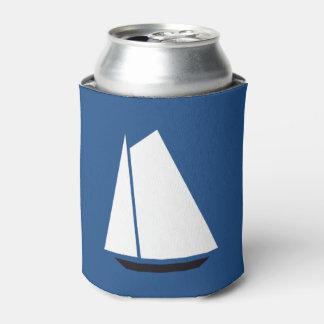 Nautical Sailboat Sailing Can Cooler
