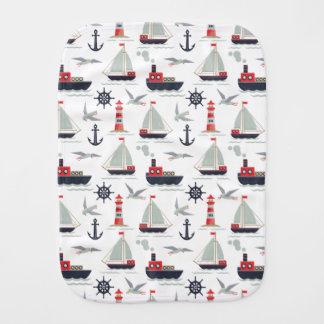 Nautical Sailboat Sailor Infant Boy Shower Gift Burp Cloth