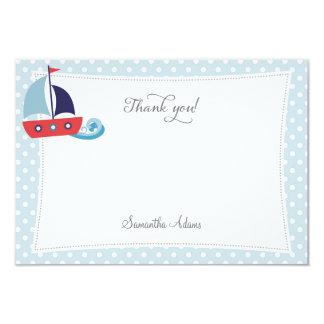 Nautical Sailboat Thank You Card