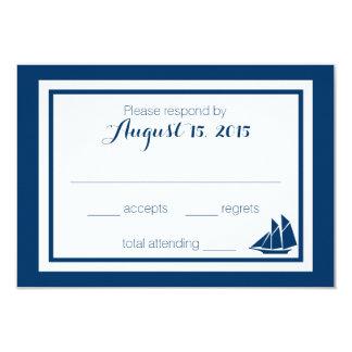 Nautical Sailboat Wedding 9 Cm X 13 Cm Invitation Card