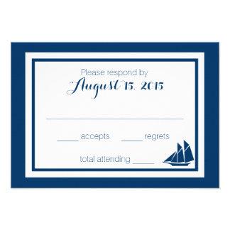Nautical Sailboat Wedding Personalized Invitations