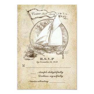 Nautical sailboat wedding RSVP-Come Sail Away Card