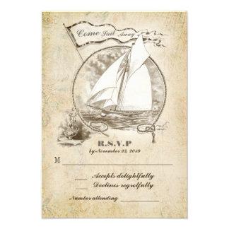 Nautical sailboat wedding RSVP-Come Sail Away Announcement