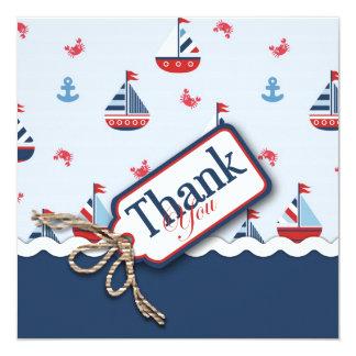 Nautical Sailboats Thank You Card