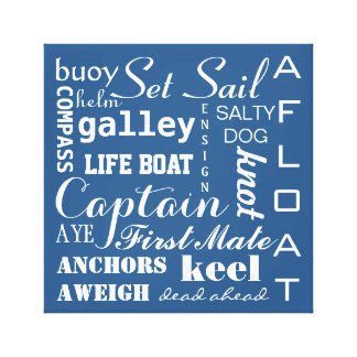 Nautical Sailing Typography Canvas Print