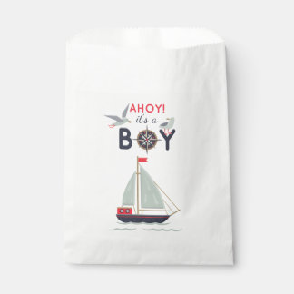 Nautical Sailor Boats Ahoy Baby Boy Shower Party Favour Bags