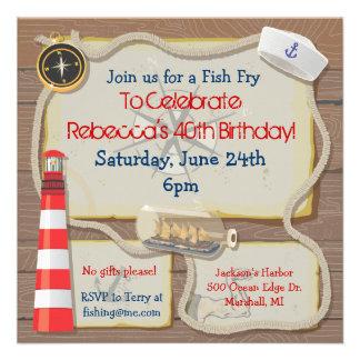 Nautical Sailor Party Invitation