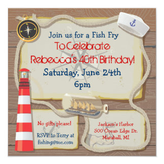 Nautical Sailor Party Invitation