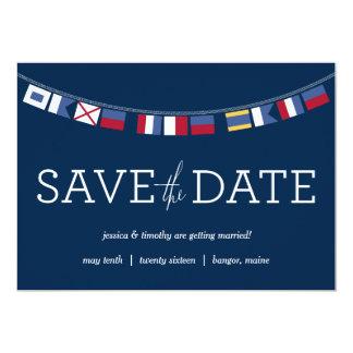 Nautical Save the Date 13 Cm X 18 Cm Invitation Card