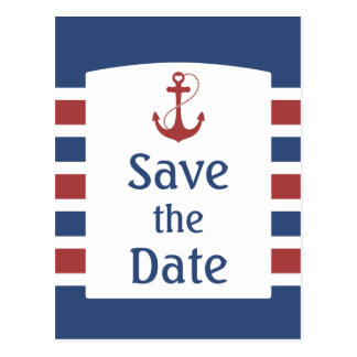 Nautical Save the Date Post Cards
