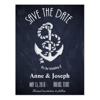Nautical Save the Date V Postcard