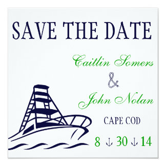 Nautical Save the Date Wedding 13 Cm X 13 Cm Square Invitation Card