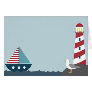Nautical scene card