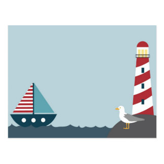 Nautical scene postcard