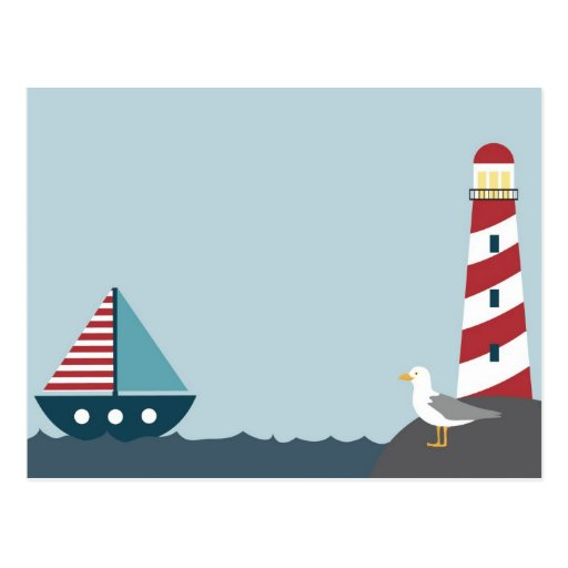 Nautical scene postcard