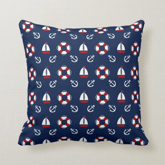 Nautical, Sea, Anchor, Boat, Life Belt, Pillow
